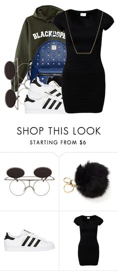 """untitled #70"" by yani122 ❤ liked on Polyvore featuring MCM, adidas Originals, VILA and Kate Spade"
