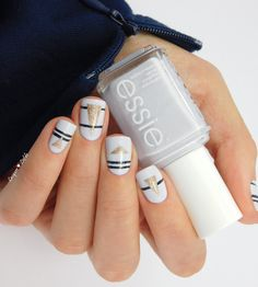 Essie Find Me an Oasis Striping Geomatric Nail Art