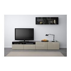 Exclu meuble mural tv design spizzy bois blanc laqu mat - Ikea meuble tv mural ...