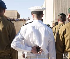 #FriendsOfTheIDF(FIDF) ..... A very IDF love story: Naval Officer E. came to Israel from France to serve in the IDF, but he didn't expect to meet his other half! After four months of being apart during Officers Course, Officer E. dropped to one knee and proposed to his girlfriend at his graduation ceremony. Mazel tov to the happy couple!
