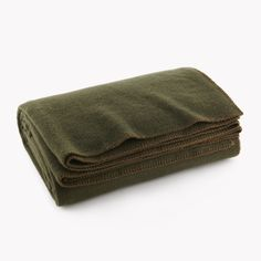 http://www.faribaultmill.com/collections/wool-blankets/products/pure-simple-wool-blanket-olive-green?variant=4292418436