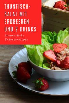 Thunfischsalat mit Erdbeeren sind eine ungewöhnliche Idee #erdbeeren #thunfisch #salate #rezepte Beef, Chicken, Food, Salad With Strawberries, Mint, Salads, Fish, Rezepte, Meat
