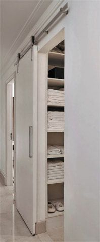 Looking to design a walk-in closet in your home? Let California Closets design a premium closet solution that matches your style, storage needs and budget. Small Apartments, Small Spaces, Door Design, House Design, Closet Bedroom, Walk In Closet, Sweet Home, New Homes, Interior Design
