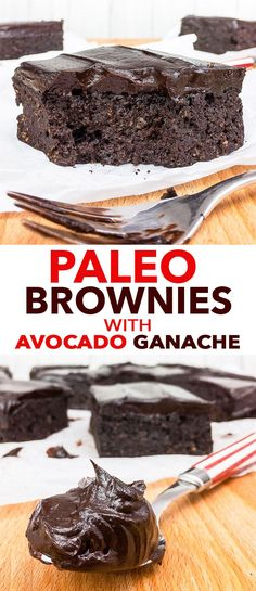Paleo Brownies with Avocado Ganache {gluten, dairy, soy, peanut & refined sugar free, paleo} - These paleo brownies are about as healthy as a brownie can get – but that certainly doesn't prevent them from being perfectly dense, fudgy, sweet and delicious. The dairy free avocado ganache makes these gluten and dairy free brownies even more spectacular… and no, you can't taste the avocado.