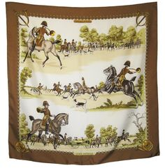 Authentic Vintage HERMES Silk Scarf -  Livree Imperiale Philippe Ledoux Equestrian Classic 1975 on Etsy, $185.00