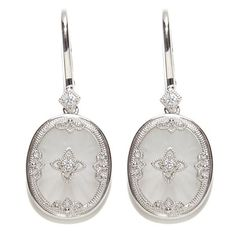 Xavier Absolute™ Frosted Crystal Sterling Silver Filigree Drop Earrings at HSN.com