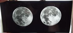 """1860s Glass Rutherford Bierstadt Full Size Moon """"Glass"""" Stereoview 