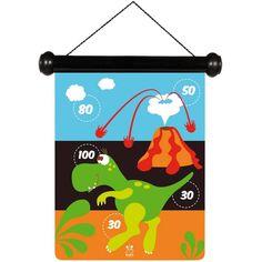 Veilig magnetisch dartsspel met mooie dinosaurussen tekening