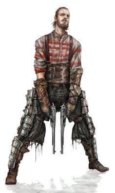 Feral World outcast scum - gunslinger- dark heresy - sci fi dark fantasy - warhammer 40.000