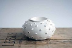Beautiful handmade aromatherapy diffuser/ oil burner glazed with white colour on Etsy, £26.36