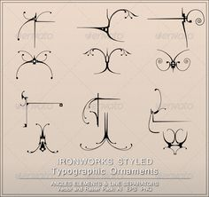 Realistic Graphic DOWNLOAD (.ai, .psd) :: http://jquery.re/pinterest-itmid-1003715850i.html ... Ironworks Styled Page Decorations ...  Page Elements, angle, background, decorations, flourishes, ironwork, line, metallic, ornament, ornamental, page decorations, separator, swirls, typographic elements, typography  ... Realistic Photo Graphic Print Obejct Business Web Elements Illustration Design Templates ... DOWNLOAD :: http://jquery.re/pinterest-itmid-1003715850i.html