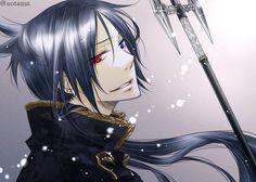 anime heterochromia / odd eyes red blue (Katekyo Hitman Reborn Mukuro)
