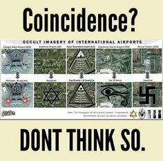 Occult imagery at international airports. Illuminati Satanic Cult elite and governments Religion, Le Vatican, Illuminati Symbols, Templer, Ancient Aliens, Ancient Egypt, Ancient History, World History
