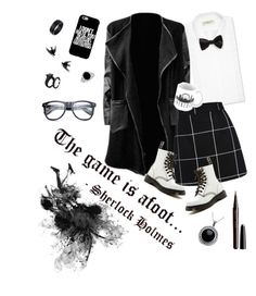 You've been SHERlocked by talane815 on Polyvore featuring polyvore fashion style WithChic Dr. Martens Carolina Glamour Collection Wolf & Moon Lanvin Marc Jacobs WALL clothing