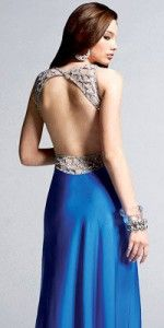 Royal Open-back Evening Gowns by Faviana