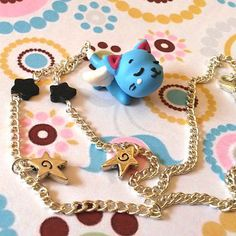Fairy Tail handmade necklace with polymer clay by Akindoonline