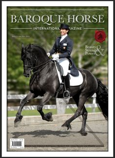 Issue 15 - Cover Jane Savoie and her very handsome Friesian.