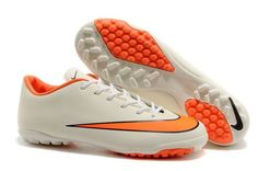 nike mercurial victory x tf white orange football boots outlet sale
