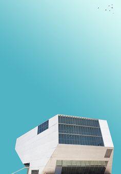 Art Director Creates Calming, Minimalistic Images Of Architecture - DesignTAXI.com