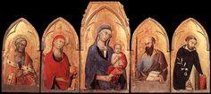 Simone Martini: polyptyque d'Orvieto. Vers 1321. Tempera sur bois, 113 x 257 cm. Orvieto, Museo dell'Opera del Duomo