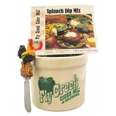 This Gift Pairing includes one Fly Creek Cider Mill Dip Crock, one Dip Mix and one Dip Spreader (style may vary). A hostess' dream! $24.99