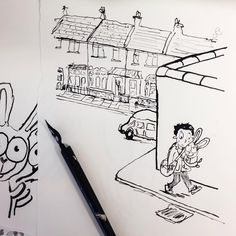 Another chapter of line drawings finished for my latest book, they still need washes to be added before they are finished, but I'm over half way through...! #inkdrawing #dippen #neallayton #hodderchildrensbooks #hachettepublishing #theinvincibletonyspears #neallayton #childrensbookillustrator #illustration #childrensbookillustration