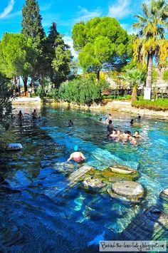 The thermal pools of Hierapolis, Turkey