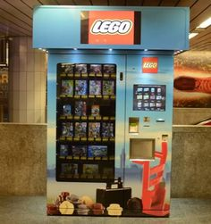 """""""LEGGO""""....This Lego vending machine on a Munich train platform might be the best way to keep your kids entertained. Ideally placed for frustrated parents trying to keep their children calm on a long journey, this machine dispenses a wide range of Lego toys."""