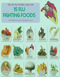 15 Flu Fighting Foods Follow us @ http://pinterest.com/stylecraze/ for more updates.