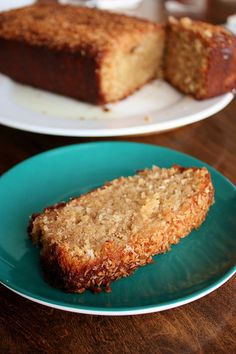 Coconut Banana Bread with Lime Glaze {Baking with Coconut Oil + GIVEAWAY!}
