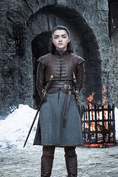 Arya Stark of Winterfell, game of thrones season 7 Maisie Williams Arya Stark of Winterfell, game of Costumes Game Of Thrones, Game Of Thrones Arya, Game Of Thrones Funny, Game Of Thrones Clothing, Game Of Thrones Episodes, Game Of Thrones Characters, Eddard Stark, Ned Stark, Sansa Stark