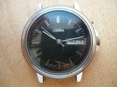 10fev16/ Slava Vintage Soviet wrist watch for parts. Not work. Vostok Amphibia Seconda Zarya Slava