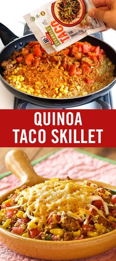Looking for a new quinoa recipe? Give taco night a lighter twist with this simple skillet dinner. Season ground turkey, quinoa, fresh tomatoes and corn with our Organic Taco Seasoning Mix for a kid-friendly meal that's perfect for busy weeknights.