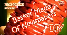 Learn how to recycle last weekend's newspaper and make a colourful basket for your home! Creative Art, Creative Ideas, Magazine Articles, Newspaper, Baskets, Home And Garden, Make It Yourself, Check, How To Make