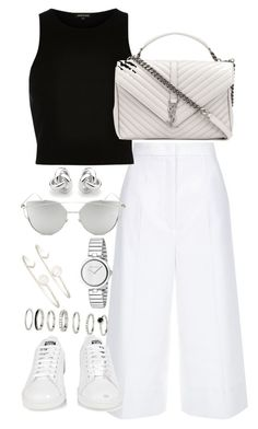 """Untitled #3547"" by theeuropeancloset on Polyvore featuring ESCADA, River Island, Yves Saint Laurent, Gucci, Chicnova Fashion, Sarah Chloe, adidas, H&M and Georgini"