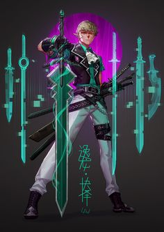 Selection of Soldoros, - Lan - - ArtStation – Selection of Soldoros, – Lan – - Fantasy Character Design, Character Design Inspiration, Character Concept, Character Art, Character Reference, Fantasy Weapons, Fantasy Warrior, Art Anime, Sci Fi Characters