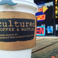 Escape the cold and rain with a hot cup of coffee and a fluffy waffle. #coffee #waffles #radcanton #culturedcoffeeandwaffles