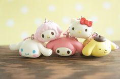 5 pc Sanrio All Stars charm Complete Set AZ338 by Candydecoholic