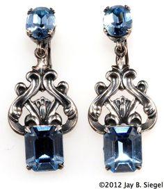 Vintage Napier dangle earrings.