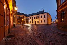Street of the old town - Hradec Kralove / Czech Republic
