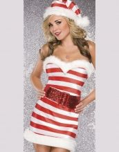 Strapless Stripe Candy Christmas Costume Item No : W4017 Sales Price : US$ 8.85