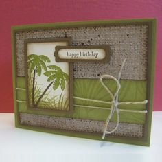 stampin up tropical party cards | TRopical party stamp set