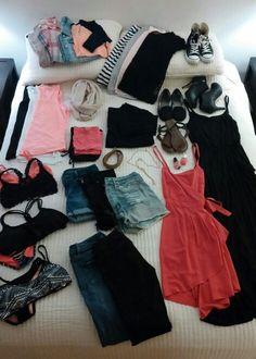 Packing list 10 day summer vacation in Colorado. Nude Scarves, Summer Vacation Packing, Coral, What To Wear, Nail Nail, Nail Polish, Fashion Outfits, Colorado Trip, Packing Lists