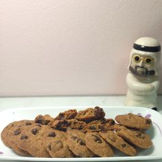 Famous Amos chocolate chip cookies (add coffee emulco)