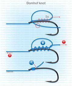 Carp fishing knots : Domhof knot