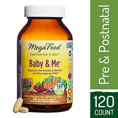 MegaFood - Baby & Me, Prenatal & Postnatal Support for Mother & Baby, 120 Tablets - Health and Personal Care Product Search Exercise While Pregnant, Get Pregnant Fast, Best Calcium Supplement, Wholesome Baby Food, Pregnancy Workout Videos, Pregnancy Tips, Pregnancy Development, Prenatal Vitamins, Pre And Post