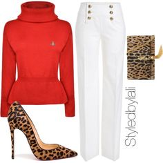 Untitled #181 by styledbylali on Polyvore featuring Vivienne Westwood Red Label, Emilio Pucci, Christian Louboutin and Yves Saint Laurent