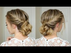 Fishtail French Braid Updo   Missy Sue - YouTube