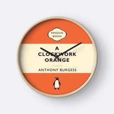 Penguin Classics A Clockwork Orange by LiteraryGifts #literarygifts #literature #Penguin #PenguinClassics #classics #classic #notebook #English #EnglishTeacher #present #gift #vintage #retro #AClockworkOrange #ClockworkOrange #Clock #home #decor #decorating