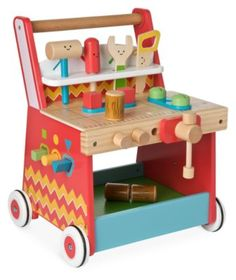 The ELC Activity Workbench Is Made From Sturdy Wood Finished With Bright ColoursDepth 43 CMHeight 32 CMWidth 9 Months Isia Dzido Twins 1st Birthday